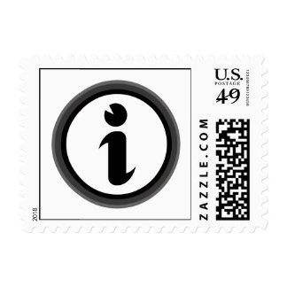 Information Symbol Postage Stamps