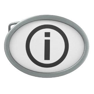 Information Symbol - Tourism Belt Buckle