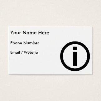 Information Symbol - Tourism Business Card