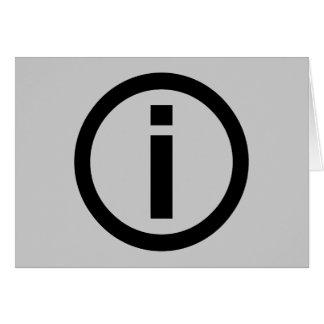 Information Symbol - Tourism Card