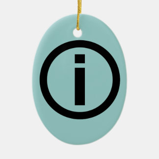 Information Symbol - Tourism Ceramic Ornament