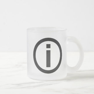 Information Symbol - Tourism Frosted Glass Coffee Mug