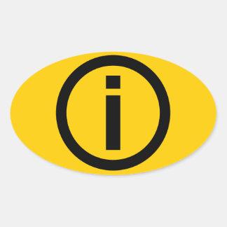 Information Symbol - Tourism Oval Sticker
