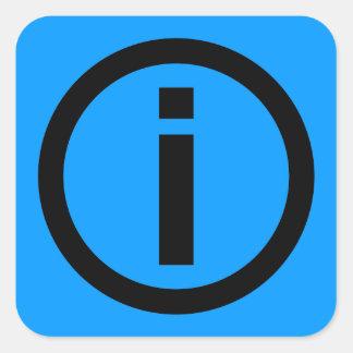 Information Symbol - Tourism Square Sticker
