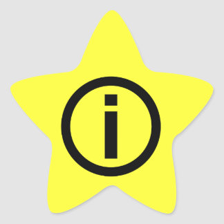 Information Symbol - Tourism Star Sticker