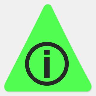 Information Symbol - Tourism Triangle Sticker