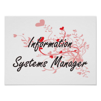 Information Systems Manager Artistic Job Design wi Poster