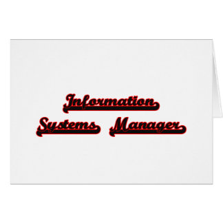 Information Systems Manager Classic Job Design Stationery Note Card