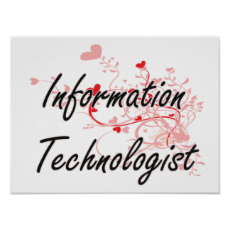 Information Technologist Artistic Job Design with Poster