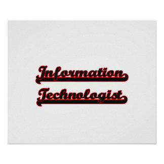 Information Technologist Classic Job Design Poster