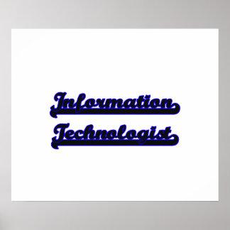 Information Technologist Classic Job Design Poster
