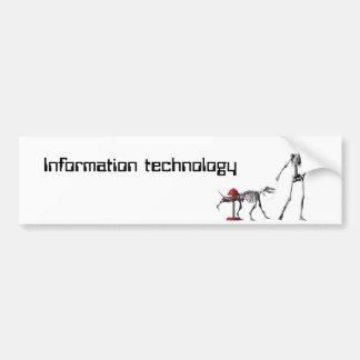 Information technology car bumper sticker