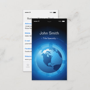 Information technology business cards templates zazzle information technology cool iphone ios design business card colourmoves