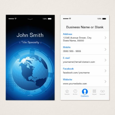 Information Technology It Services Business Card Zazzle Com