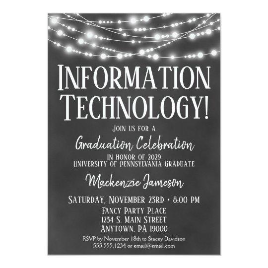 Information technology graduation party invitation zazzle information technology graduation party invitation filmwisefo Gallery