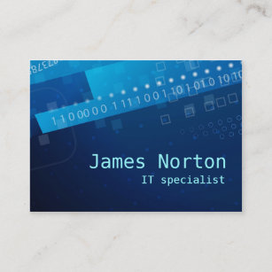 Information technology business cards templates zazzle information technology it blue business card colourmoves