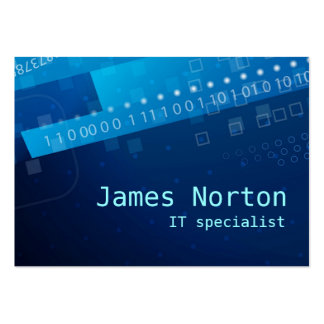 Information Technology IT blue business card