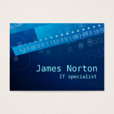 Information Technology It Blue Business Card at Zazzle