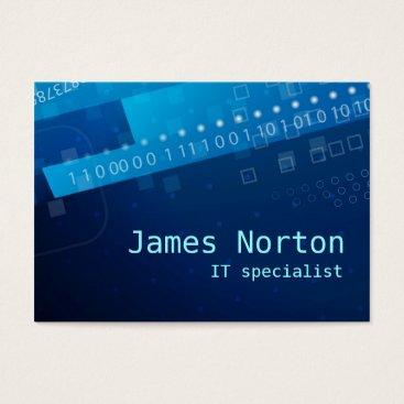 arcueid Information Technology IT blue business card