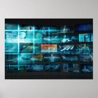 Information Technology or IT Infotech as a Art Poster