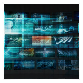 Information Technology or IT Infotech as a Art Poster