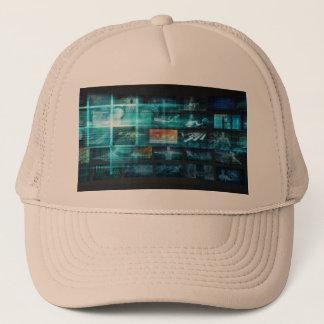 Information Technology or IT Infotech as a Art Trucker Hat