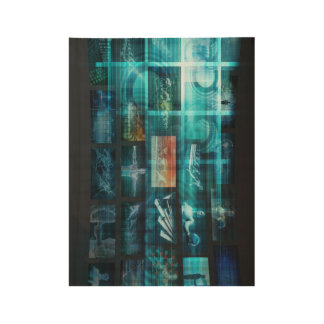 Information Technology or IT Infotech as a Art Wood Poster