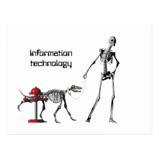 Information technology postcard