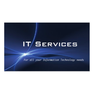 Information Technology Services Business Card