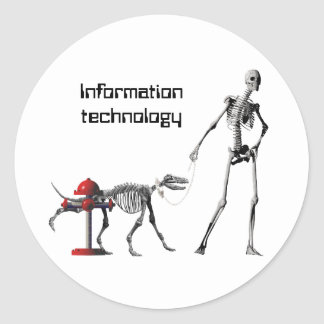 Information technology classic round sticker