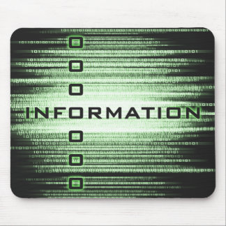 Information Text Design Mouse Pad