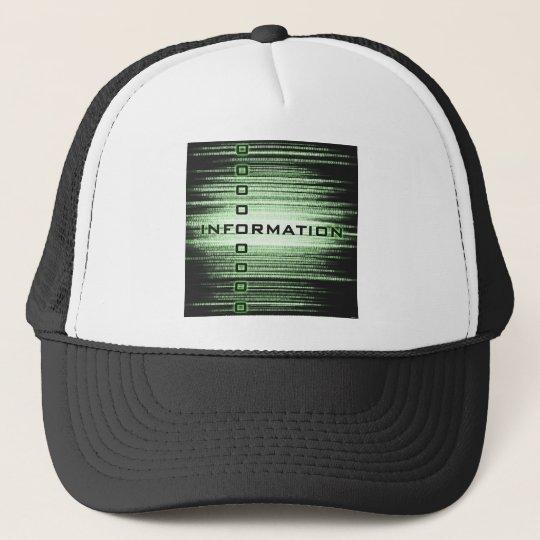 Information Text Design Trucker Hat