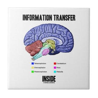 Information Transfer Inside (Brain Anatomy) Ceramic Tile