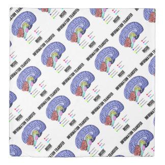 Information Transfer Inside Brain Anatomy Humor Duvet Cover