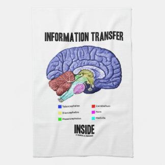 Information Transfer Inside (Brain Anatomy) Kitchen Towel
