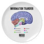Information Transfer Inside (Brain Anatomy) Party Plate