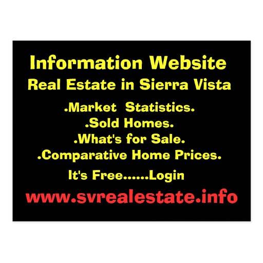 Information Website, Real Estate in Sierra Vist... Post Cards