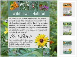 Informative Wildlife Habitat Signs