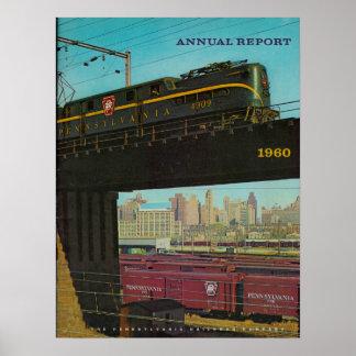 Informe anual 1960 del ferrocarril de Pennsylvania Impresiones