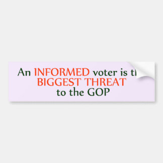 Informed Voter Bumper Sticker
