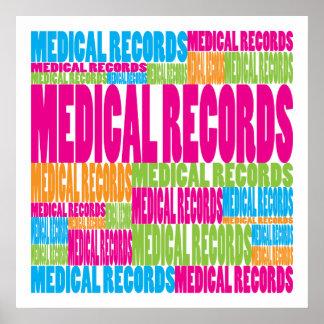 Informes médicos coloridos póster