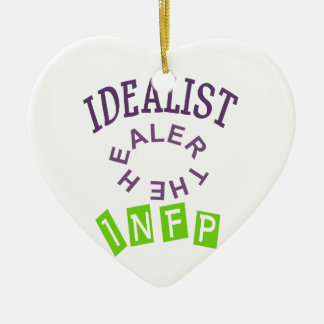 INFP Idealist Personality Ceramic Ornament