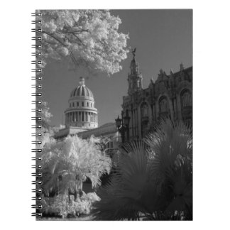 Infra red of Capitol building dome in Havana Spiral Notebook