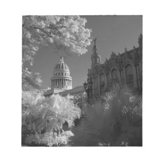 Infra red of Capitol building dome in Havana Notepad