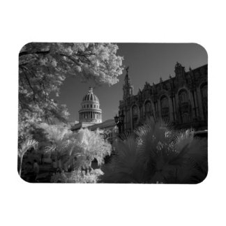 Infra red of Capitol building dome in Havana Rectangular Magnets