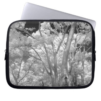 Infra red of trees buildings and trails in Las 2 Laptop Sleeve