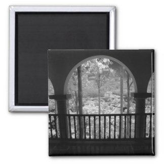 Infra red of trees buildings and trails in Las 3 Refrigerator Magnet