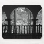 Infra red of trees buildings and trails in Las 3 Mouse Pad