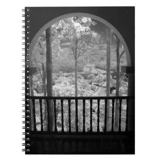 Infra red of trees buildings and trails in Las 3 Spiral Notebook