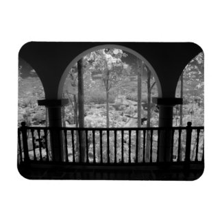 Infra red of trees buildings and trails in Las 3 Rectangular Magnet
